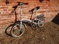 Folding bicycle. Good condition. Little used. Always garaged.