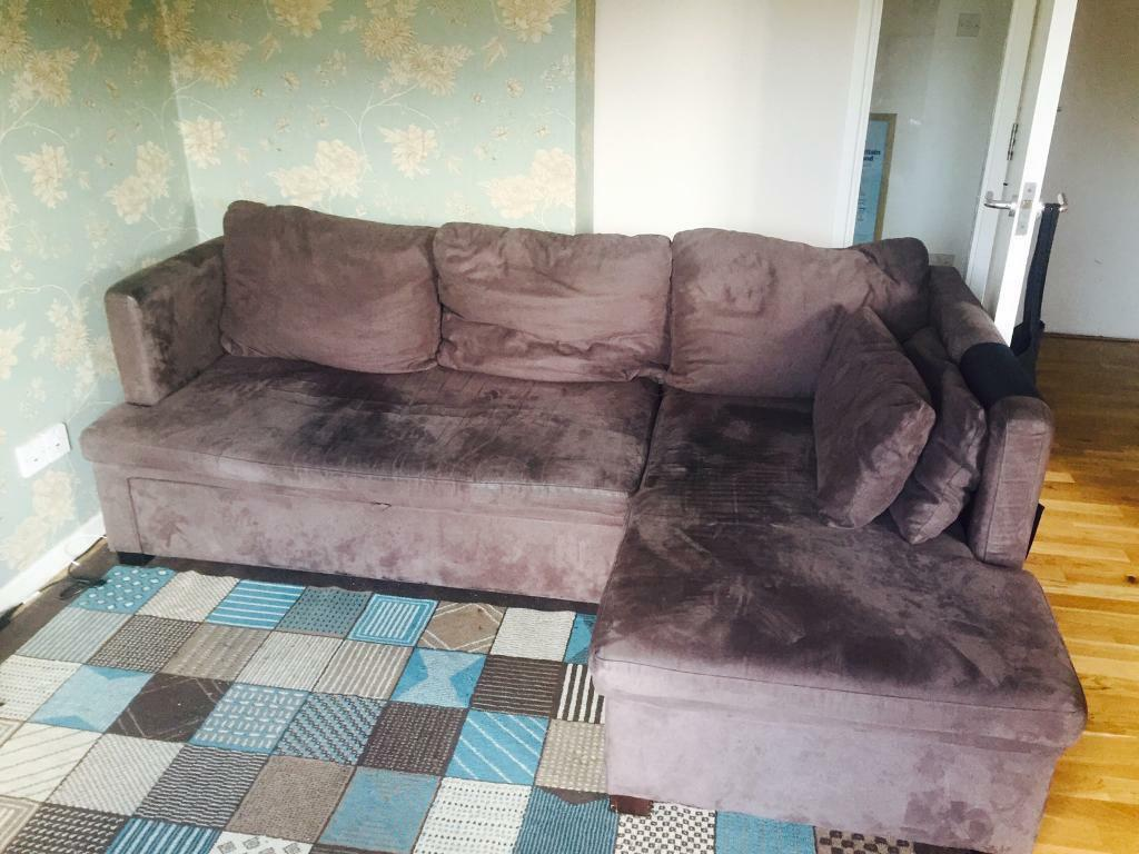 FREE Chiswick Large Chaise Sofa Bed With Storage, Mink Right