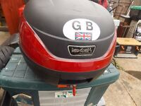 Lextech motorcycle top box 32 litre in good order comes with 1 only £20