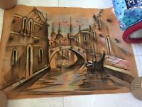 Venice chalk drawing