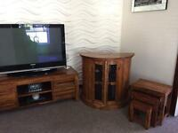 Walnut wooden tv stand and furniture