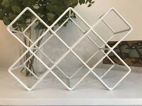 Habitat White Coated Metal Cacti Wine Rack
