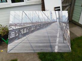 Brooklyn Bridge Picture Poster Art Print Canvas