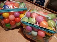 Packs of play balls
