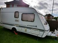2002 YEAR CARAVAN SWIFT CHARISMA WITH AWNING, MOTOR MOVER TRUMA AND FULL EQUIPMENT