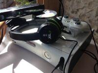 Used Retro White Original Xbox 360 + 26 games + Kinect + More