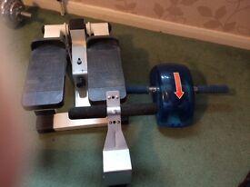 Exercise stepper, exercise roller & sit ups door wedge