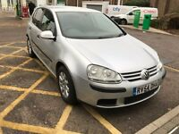 VOLKSWAGEN GOLF 1.6 FSI SE AUTOMATIC PETROL 5 DOOR HATCHBACK SILVER MOT MK5 ALLOYS NOT FOCUS POLO