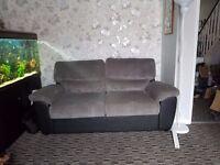 Black and grey sofa bed