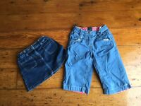 Boden girls age 4-5 shorts and Boden skirt age 4-5