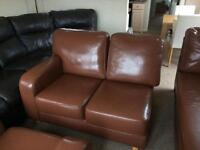 FREE Leather corner sofa with chaise