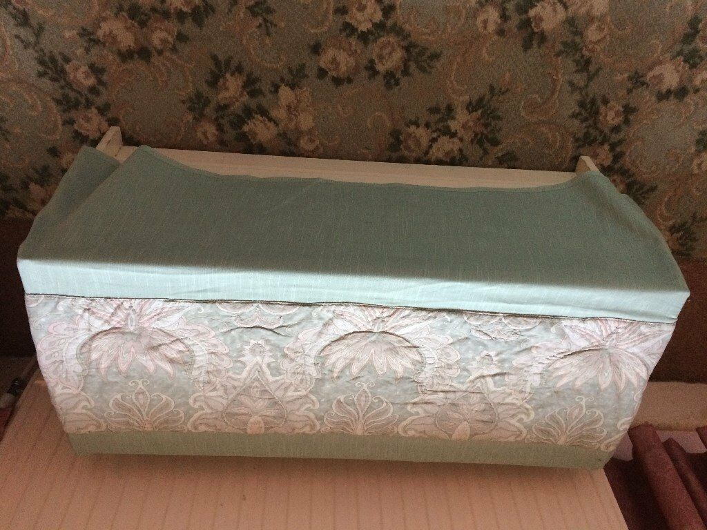 Ottoman, wooden, one drawer chest and cover for