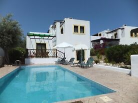 Holiday Villa to rent on Rhodes Greece