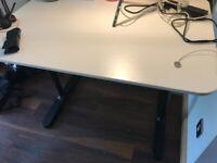 White IKEA desk table