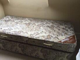 Free single divan bed
