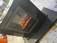black marble fireplace amd hearth