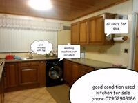 USED kitchen for sale ONLY:COOKER,OVEN,FAN,UNITS,SINKS,WORKTOP COLLECTION ONLY CALL: 07952903186