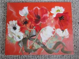 Original Oil Painting entitled 'White Poppies'