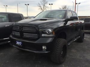 2017 Ram 1500 SPORT**6 INCH LIFT**LEATHER**SUNROOF**NAVIGATION**