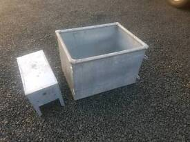 Brand new galvanised water trough farm stables tractor