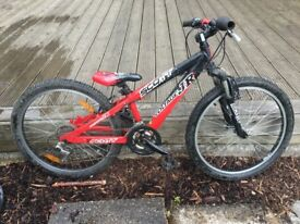 Boy's red and black Scott Voltage Jr bike