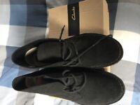 Clarks Black Desert Boots