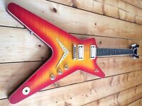 Dean USA ML Chicago Flame Cool Cherryburst Electric Guitar