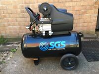 SGS Air Compressor 2.5HP, 50 litre, 9.6CFM nearly NEW!