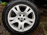 Range Rover Discovery 2 19 inch wheels with almost new tyres