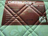 Relaxan orthosoft single mattress hardly used with free new topper.