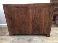 Mango wood sideboard unit