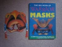 BOOK OF WARRIOR MASKS - Great for school dress up studies ... and more