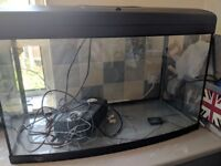 Fish tank aqua 900 with black stand