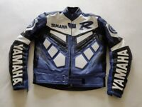 YAMAHA R MOTORCYCLE BIKE LEATHER JACKET
