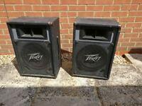 "Pair of Peavey ES -12 passive speakers (12"" drivers at 8 ohms)"
