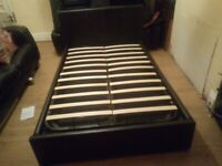 Double leather ottoman bed frame (DELIVERY AVAILABLE)