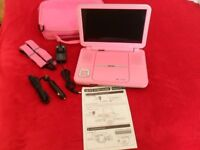 10in Bush Portable DVD Player with Pink carry case BDVD 8310P (No remote). Slightly used