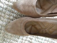 Suede high heel shoes size 7 from Nine West