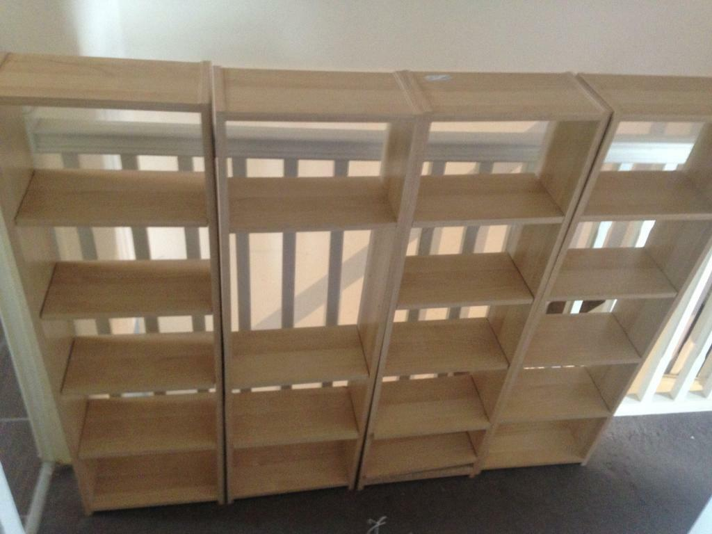 Ikea Flarke Bookshelves Dvd Cd Storage Units X4