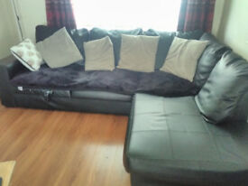 FREE faux leather corner couch