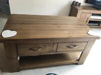 Solid Pine coffee table, excellent condition.