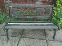 Vintage child size cast iron bench.