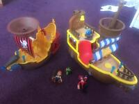 Jake and the never land pirate ships