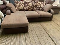 Harveys fabric and suede corner sofa chaise in excellent condition 149 delivery free