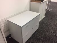 Two Large Grey Filing Cabinets