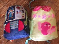 Kids backpack sleeping bags (2)