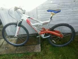 1)Mountain bike & 2)bmx bike
