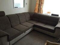 Corner sofa bed with sleeping option