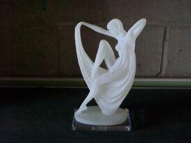 Acrylic Greek style lady figurine