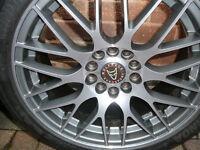 "Brand New WOLFRACE ALLOY WHEELS 215 45 17 TYRES Renault laguna scenic 17"" INCH 5x108 alloys wheel"